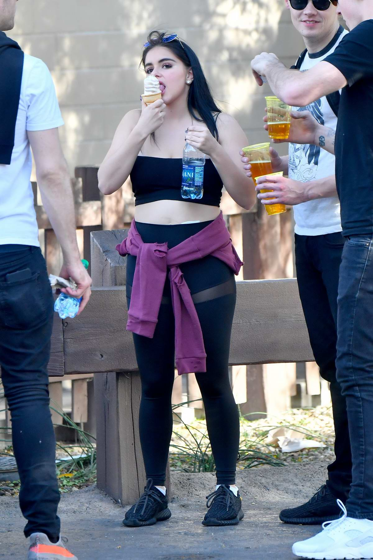 Ariel Winter enjoys a day out with friends at Disneyland in Anaheim, California