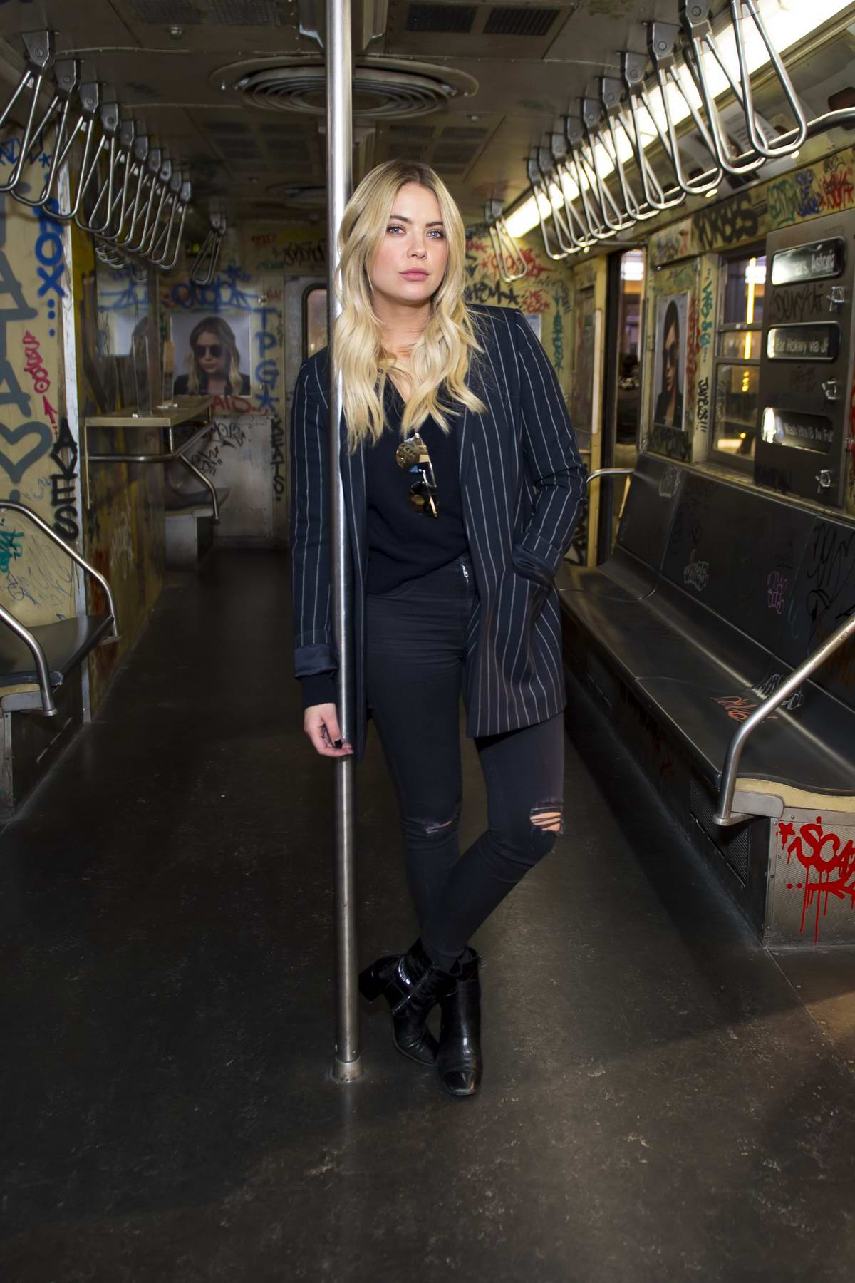 Ashley Benson at Prive Revaux fan meet & greet in New York City