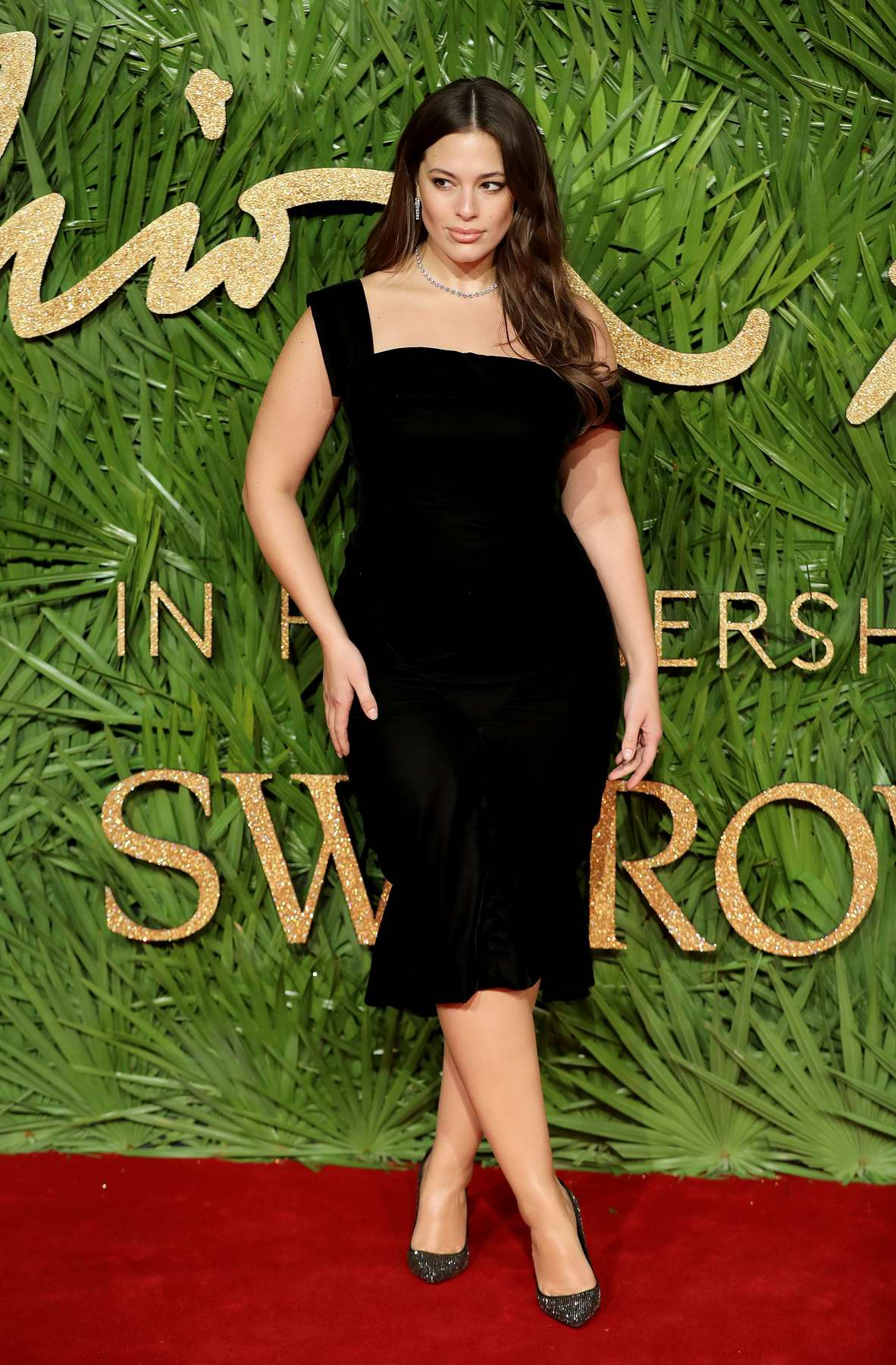 Ashley Graham attends The British Fashion Awards 2017 in partnership with Swarovski held at the Royal Albert Hall in London