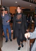 Ashley Graham spotted while departing LAX international airport in Los Angeles
