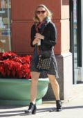 Ashley Hinshaw grabs a green juice while out in Beverly Hills, Los Angeles