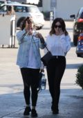 Ashley Tisdale and Lea Michele have lunch and shop at Brentwood Country Mart in Los Angeles
