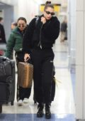 Bella Hadid arriving back to New York after her trip to London