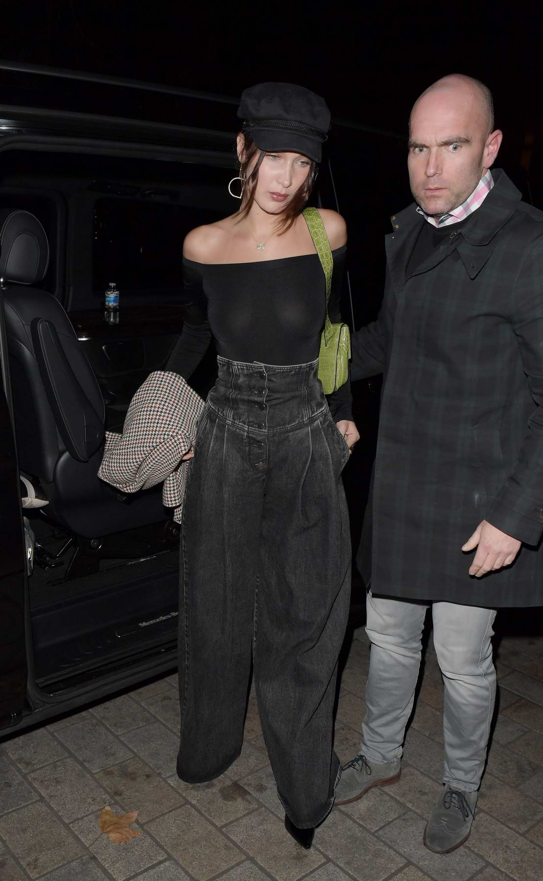 Bella Hadid heading for a night out in London