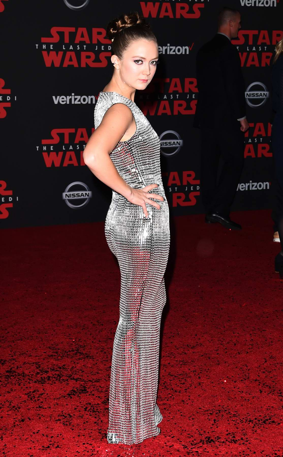 Billie Lourd at the World premiere for 'Star Wars: The Last Jedi' at the Shrine Auditorium in Los Angeles