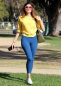 Blanca Blanco takes a stroll through the park in Beverly Hills, Los Angeles