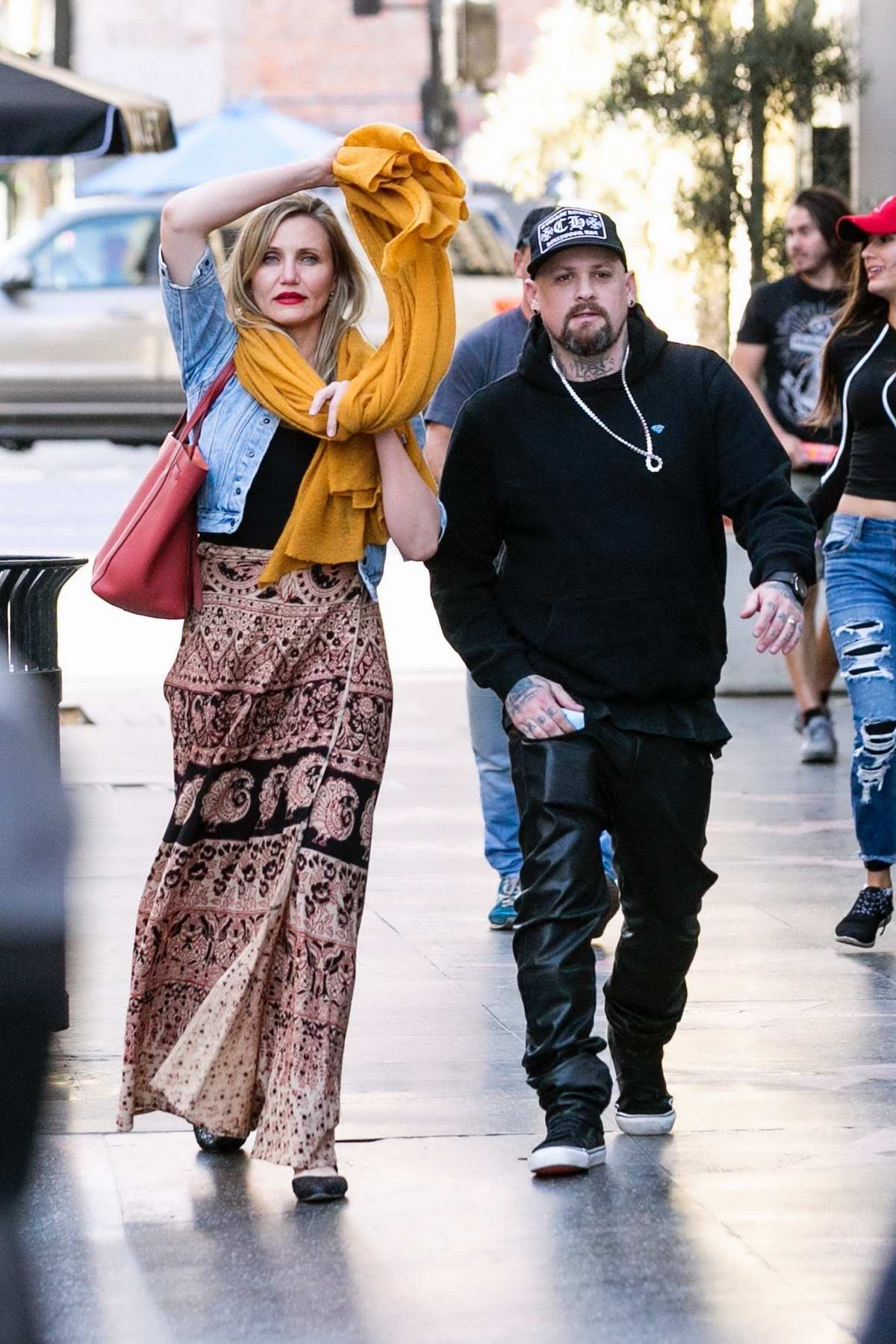 Cameron Diaz and husband Benji Madden head to Hamilton in Los Angeles