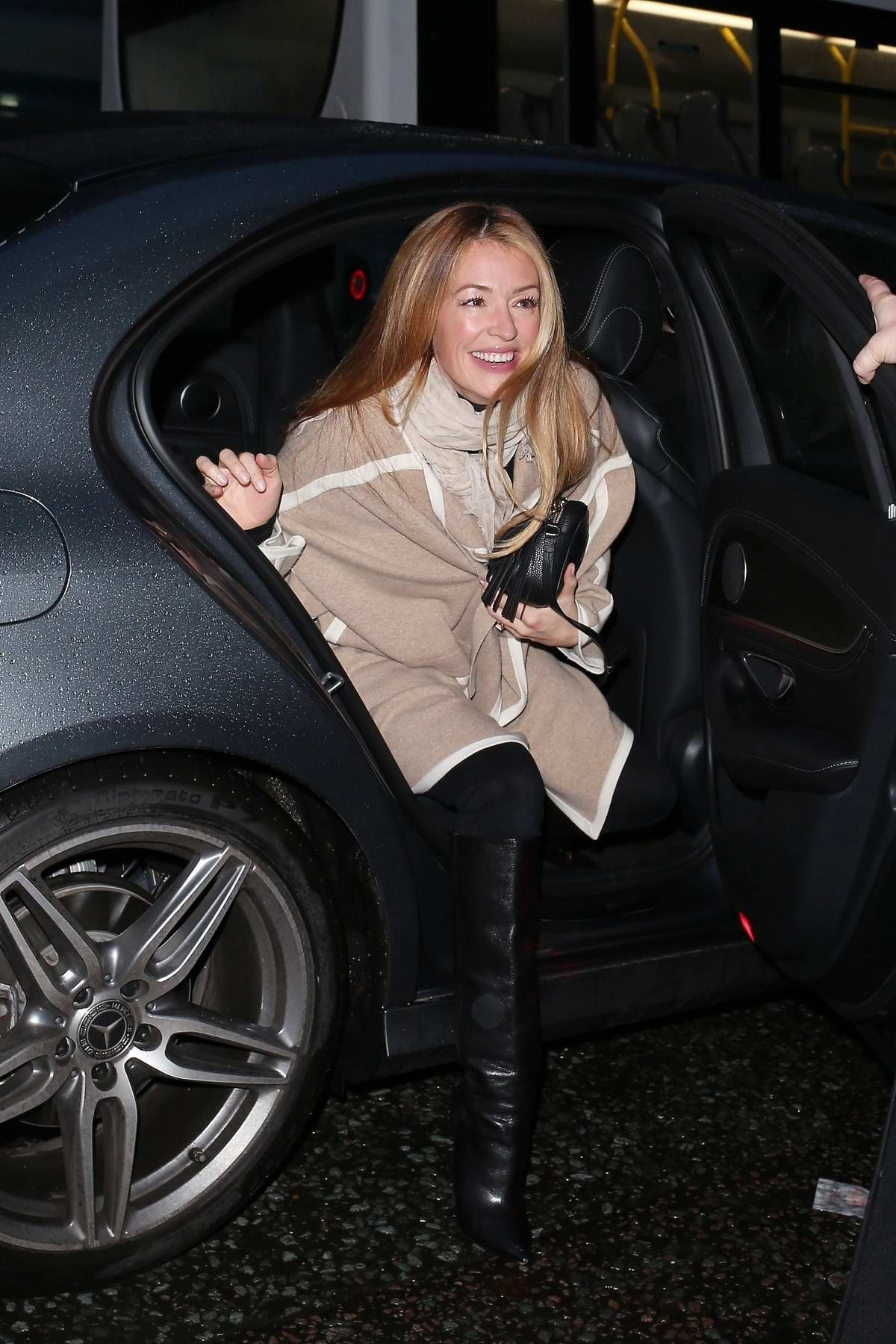 Cat Deeley arrives at BBC broadcasting house in London