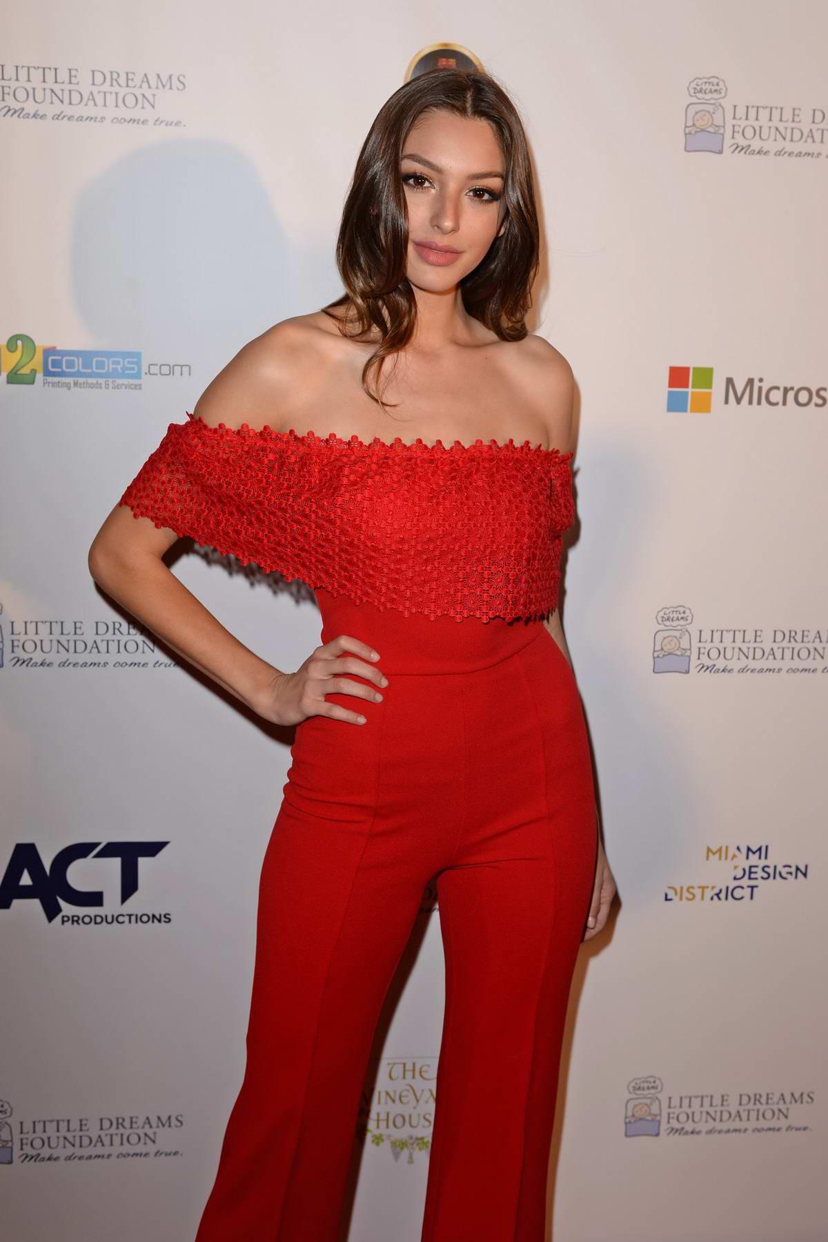 Celine Farach attends Little Dreams Foundation Gala in Miami beach, Florida