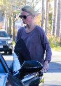 Charlize Theron spotted leaving a spa after some facial treatment in Studio City, Los Angeles