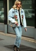 Chiara Ferragni rocks a stylish denim look while out and about in Milan, Italy