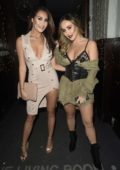 Chloe Goodman enjoys a night out with sister Lauryn at The Living Room in Manchester, UK