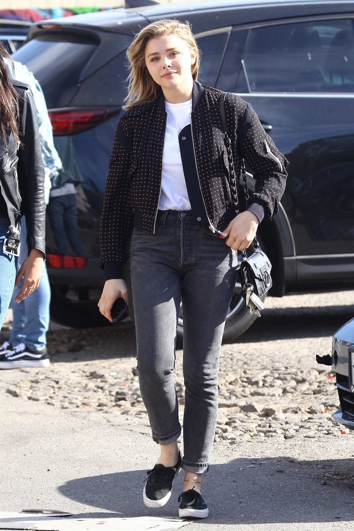 Chloe Grace Moretz out doing Christmas shopping with a friend in West Hollywood, Los Angeles