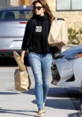 Cindy Crawford starts her morning off with trip to Trancas market for some groceries in Malibu, California
