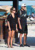Constanza Caracciolo in a bikini spending a day with boyfriend Christian Vieri at the beach in Miami, Florida