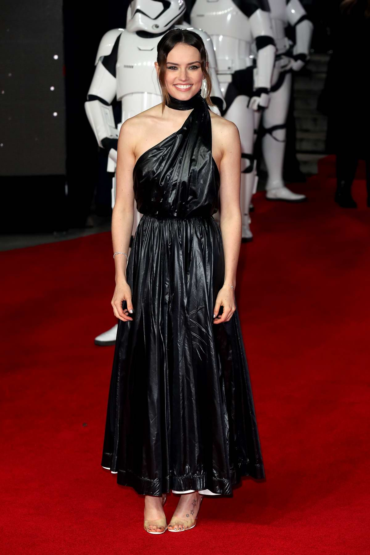 Daisy Ridley attends the European Premiere of 'Star Wars: The Last Jedi' at Royal Albert Hall in London