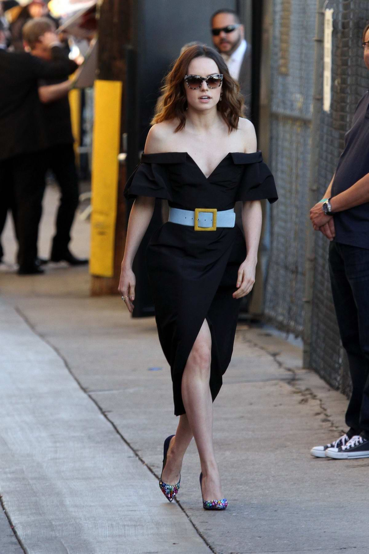 Daisy Ridley make an appearance at Jimmy Kimmel Live in Los Angeles