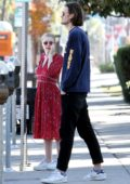 Dakota Fanning and boyfriend Henry Frye spotted leaving a family lunch in Studio City, Los Angeles