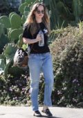 Dakota Johnson dresses casual while out running errands in Hollywood, Los Angeles