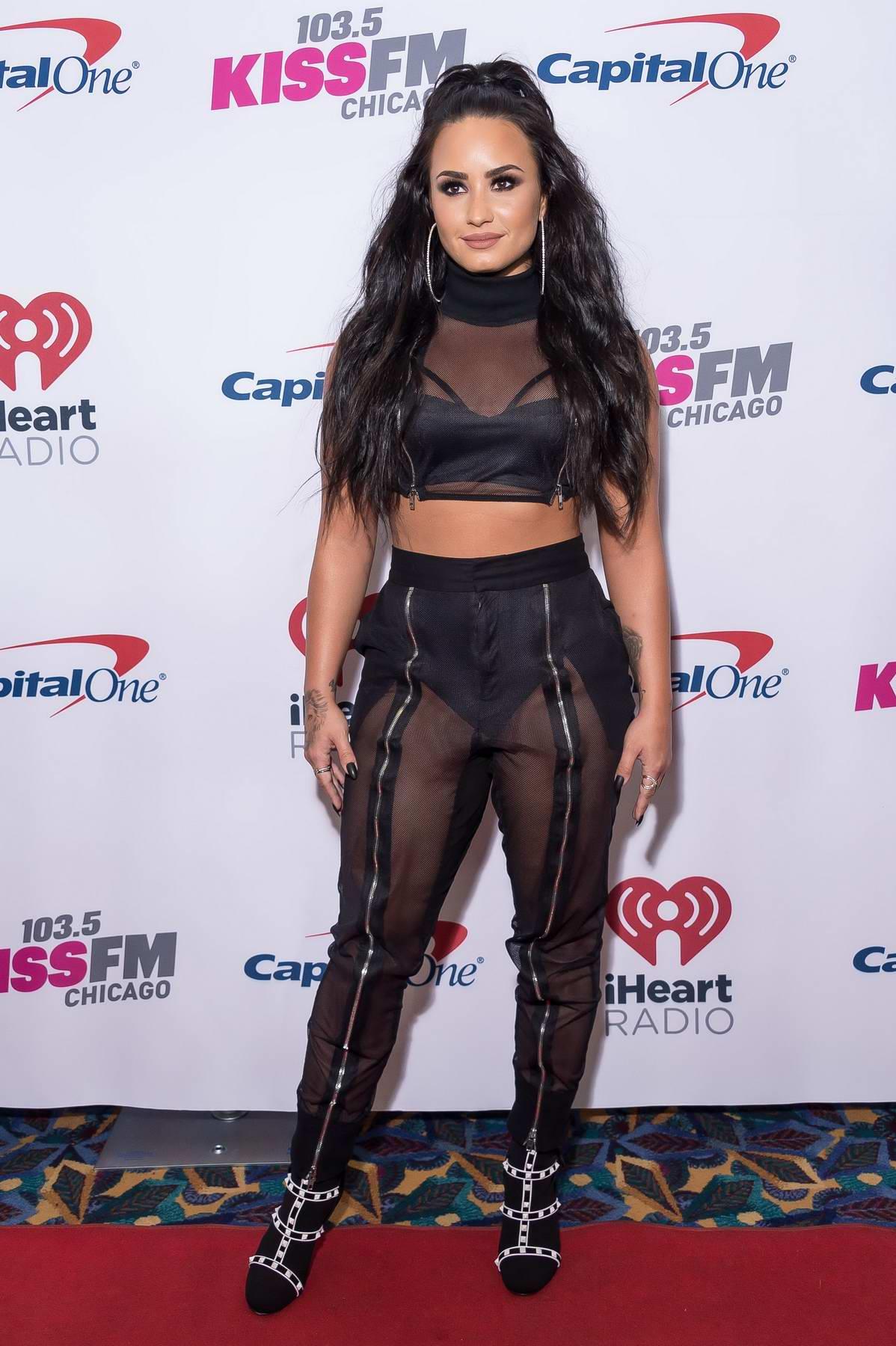 Demi Lovato at 103.5 Kiss FM's Jingle Ball 2017 in New York City