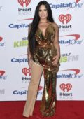 Demi Lovato at the KIIS FM's iHeartRadio Jingle Ball 2017 at The Forum in Inglewood, California