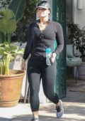 Demi Lovato leaves after a workout at the gym in West Hollywood, Los Angeles