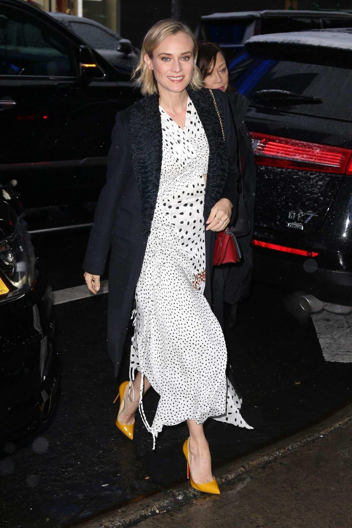 Diane Kruger arrives at 'Good Morning America' in New York City