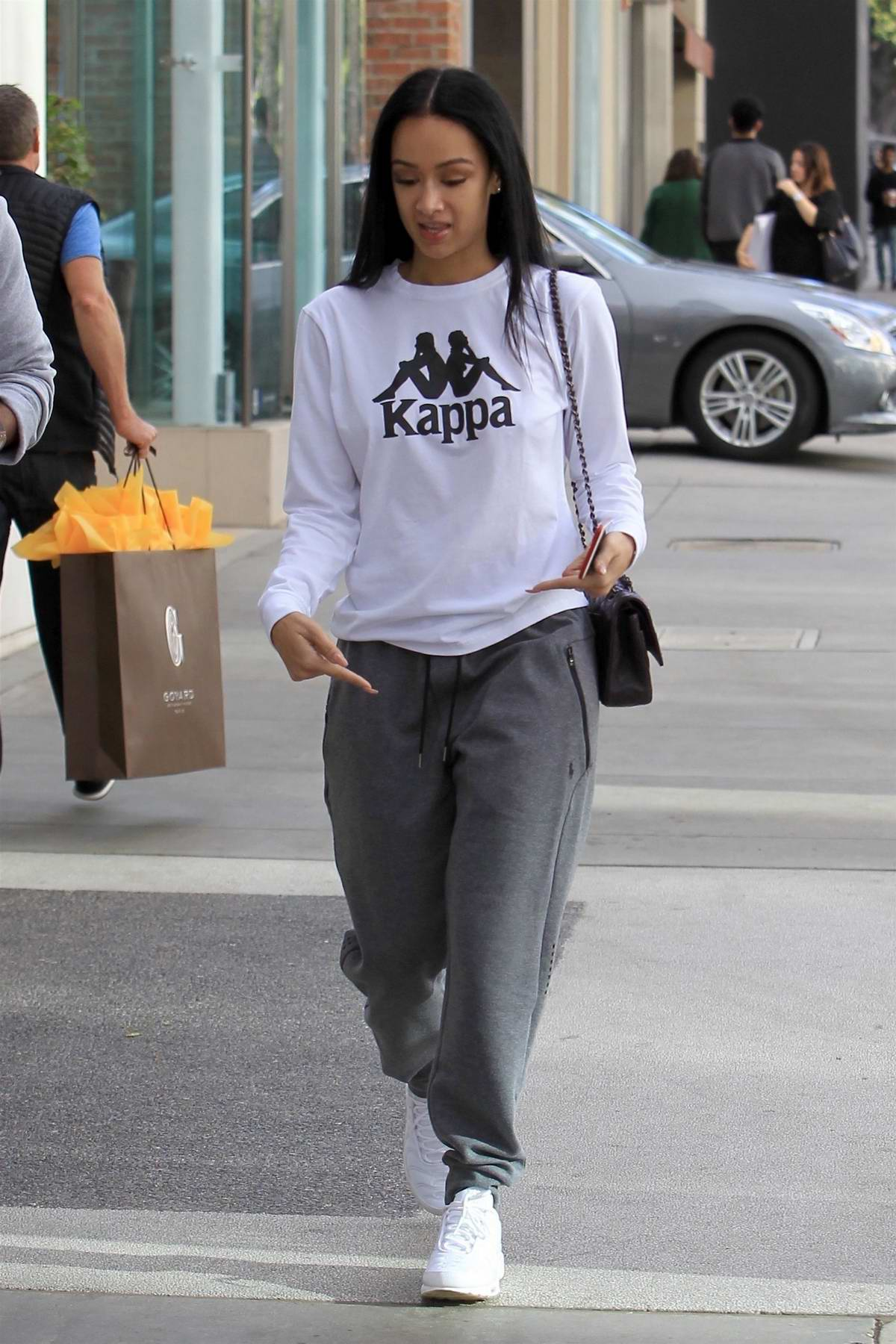 Draya Michele and Orlando Scandrick go Christmas shopping together in Beverly Hills, Los Angeles