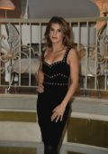 Elisabetta Canalis at TV show 'Le Spose di Costantino' photocall in Milan, Italy