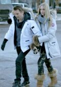 Elle Evans and Matt Bellamy out for stroll in Aspen, Colorado
