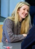 Ellie Goulding volunteers at a crisis at Christmas centre which supports homeless people this Christmas in London
