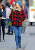 Emily Blunt stays warm and stylish in her winter ensemble while out and about in New York City