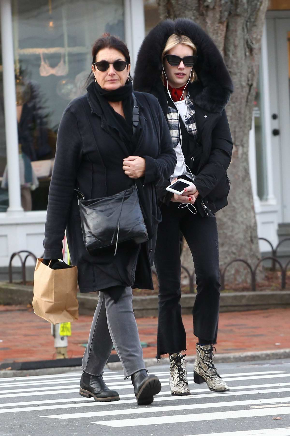 Emma Roberts spotted out with her mum in The Hamptons, New York