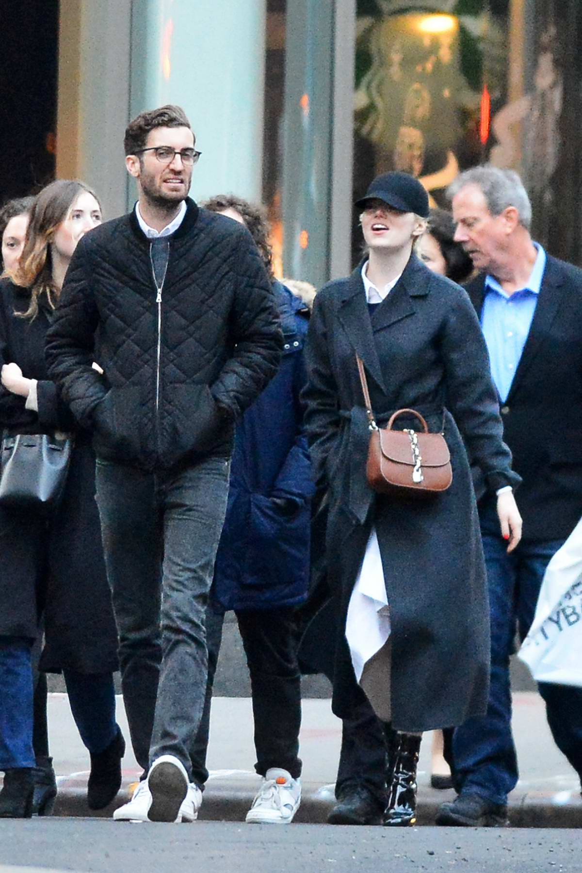 Emma Stone and Dave McCary make a rare outing in New York City