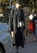 Emma Stone shops for some groceries at Bristol Farm in Beverly Hills, Los Angeles