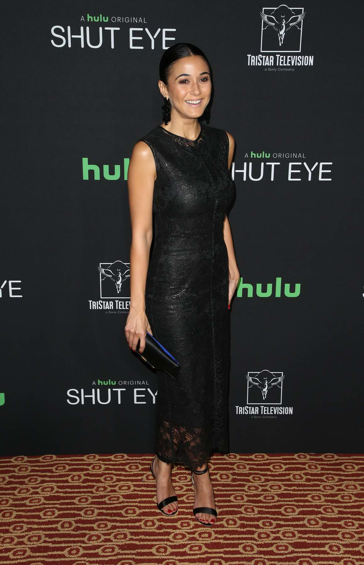Emmanuelle Chriqui attends the premire of TV show 'Shut Eye' in Los Angeles