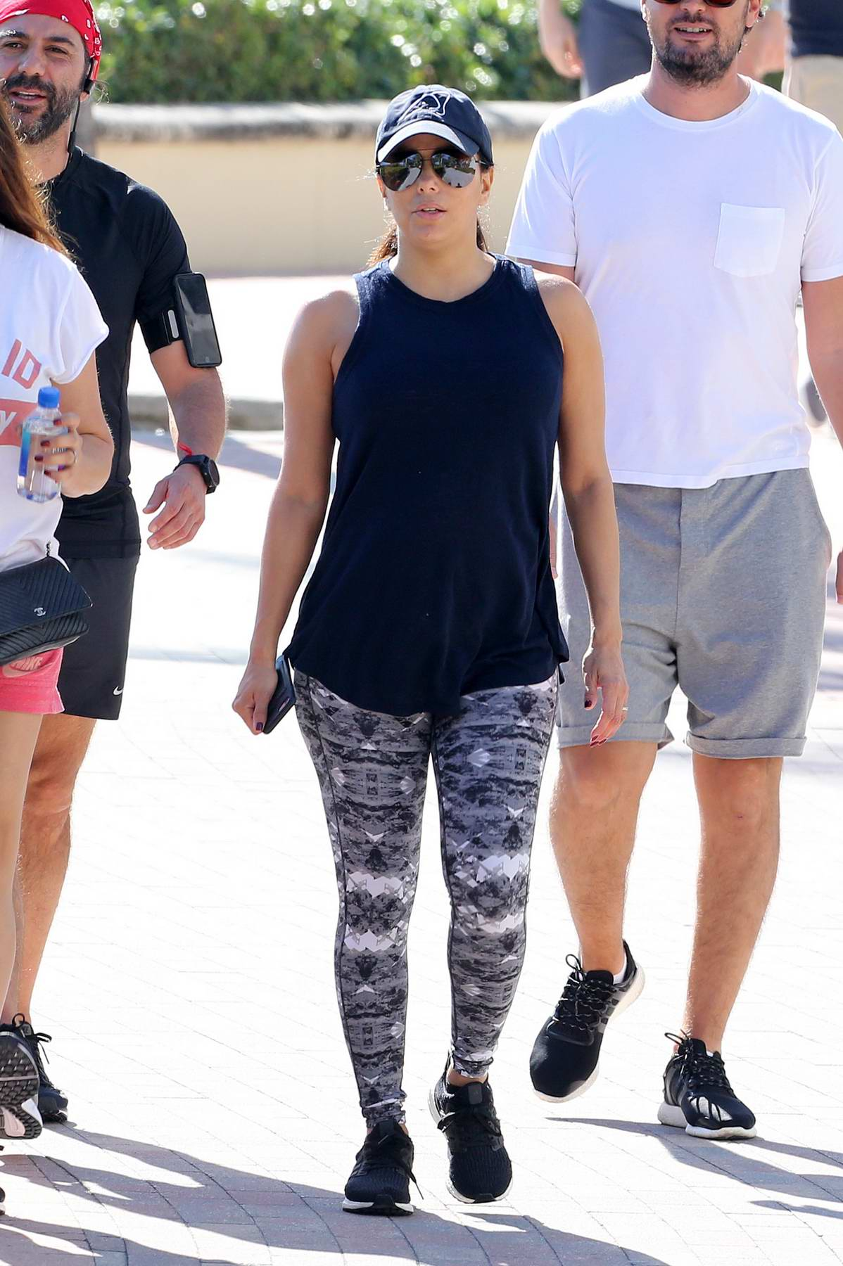 Eva Longoria takes a walk with her husband Jose Baston on Christmas day in Miami beach, Florida