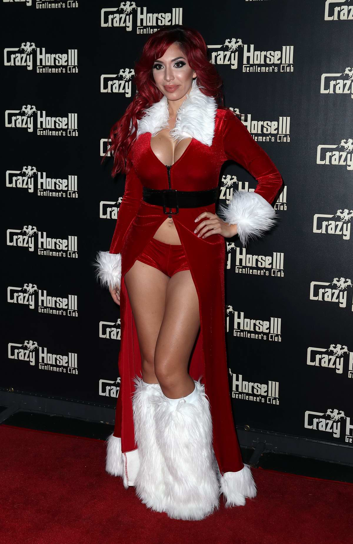 Farrah Abraham hosts Crazy Horse III Neon Flow Holiday Party in Las Vegas