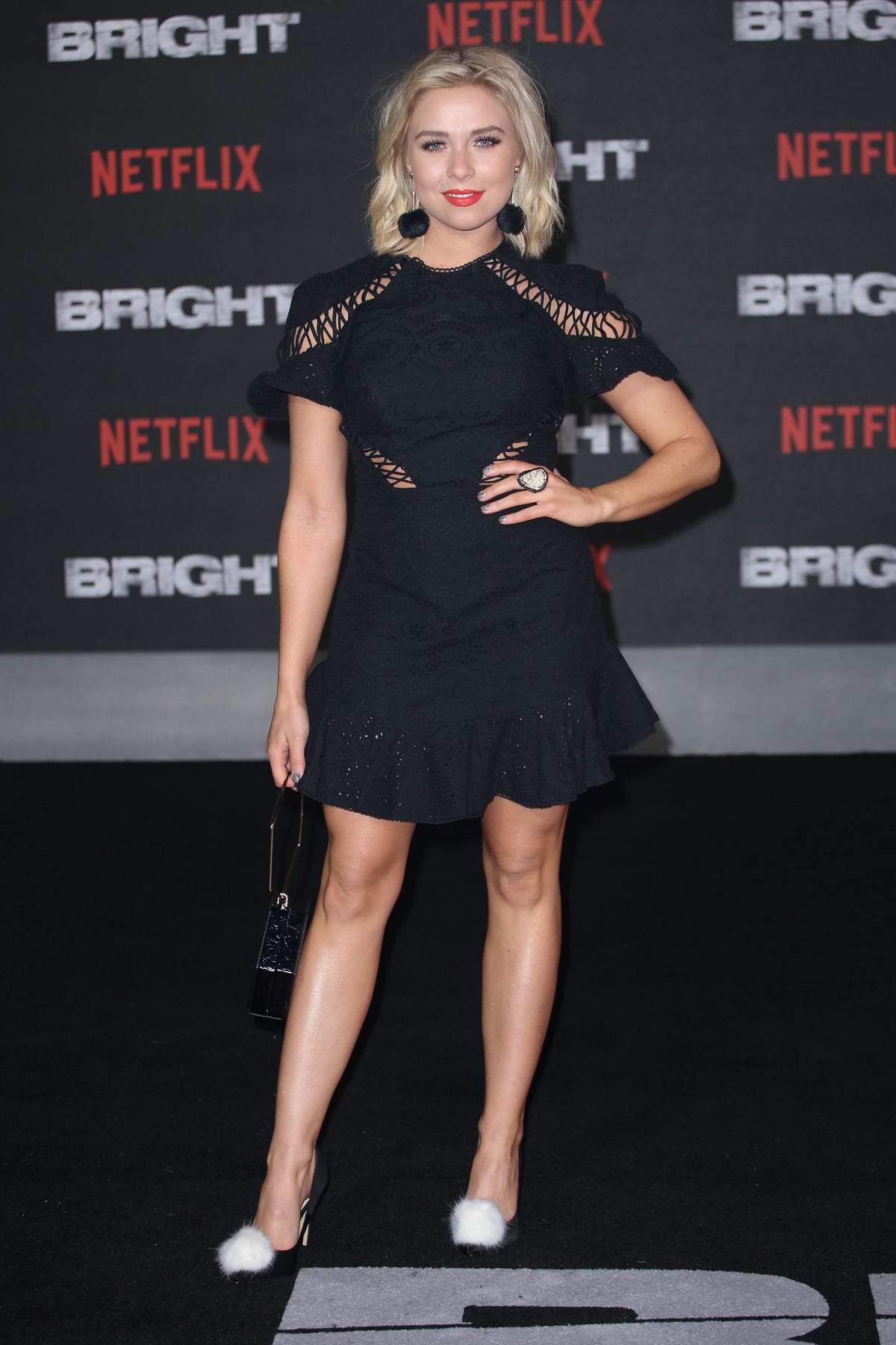 Gabby Allen at UK film premiere of 'Bright' held at BFI Southbank in London