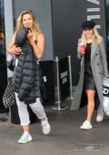 Gemma Atkinson and Mollie King leaving there hotel as they head to the dance studio in London