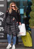 Gemma Atkinson leaves the Village Hotel Club in Watford, UK