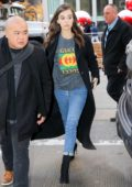 Hailee Steinfeld arriving at NBC studios for an appearance on 'Jimmy Kimmel Live' in New York City