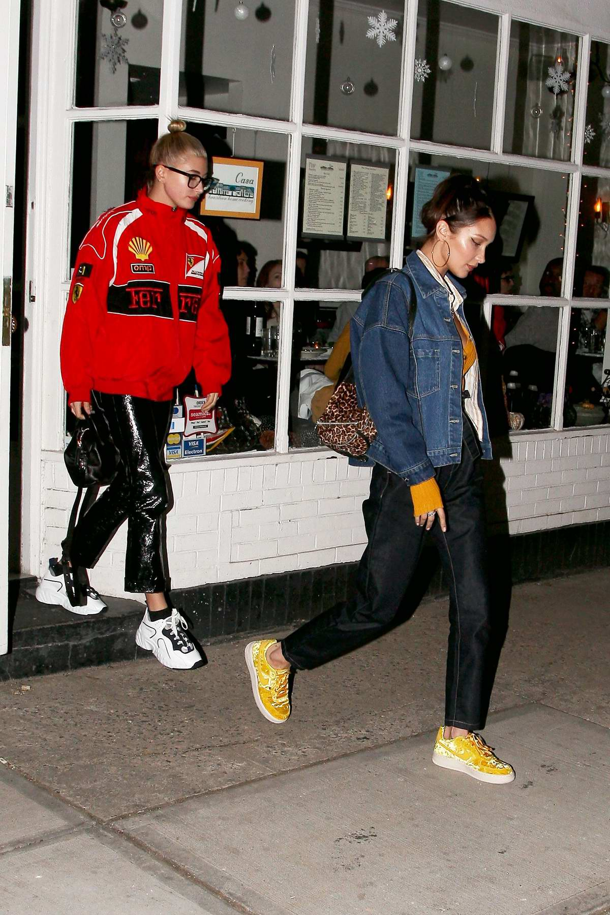 Hailey Baldwin and Bella Hadid out for dinner in New York City