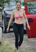 Helen Hunt takes her daughter surfing during their holiday in Maui, Hawaii
