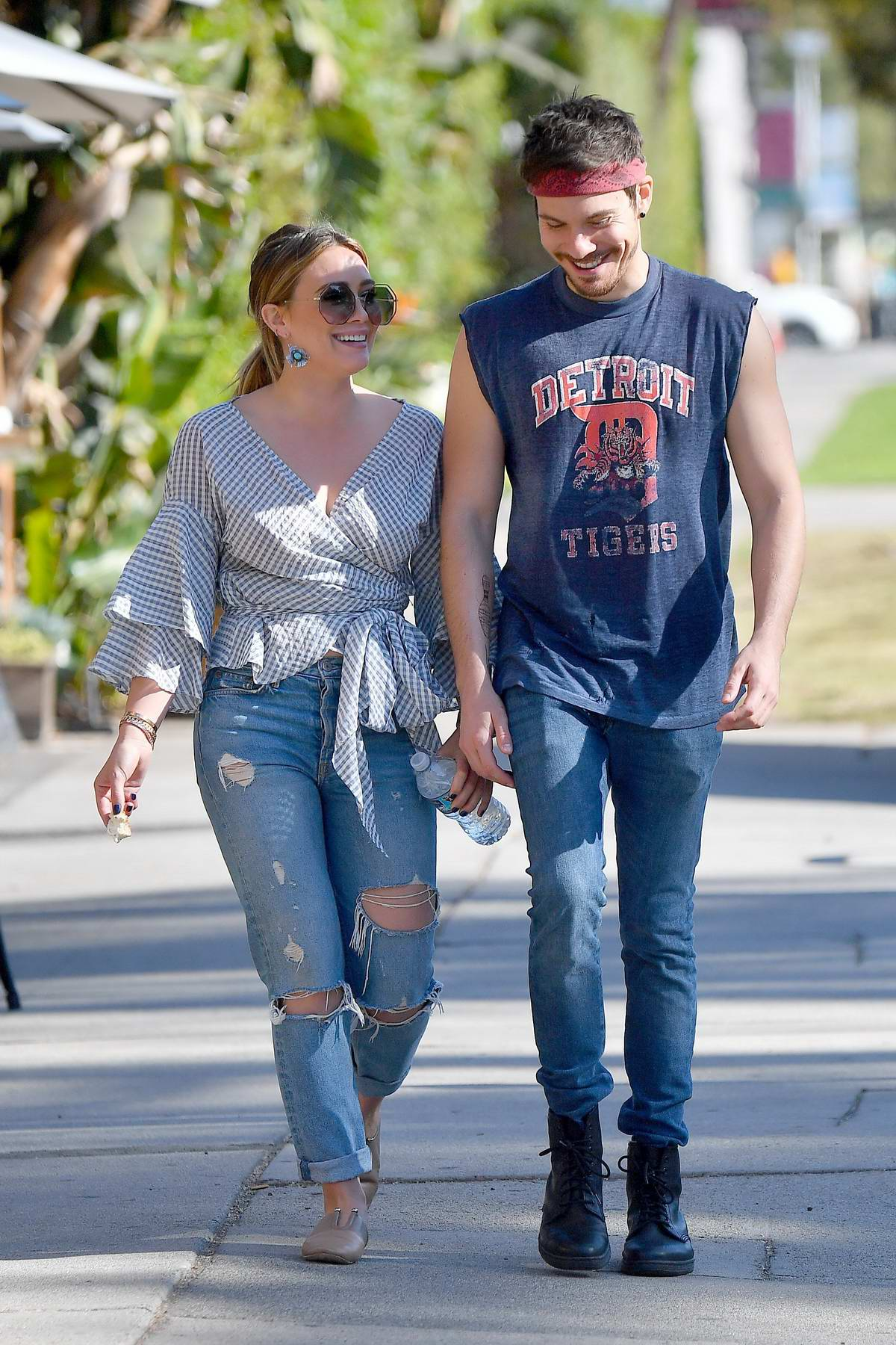 Hilary Duff and boyfriend Matthew Koma spotted at the Fairfax flea market in Los Angeles