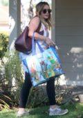 Hilary Duff arrive at her boyfriend Matthew Koma's house in Studio City, Los Angeles