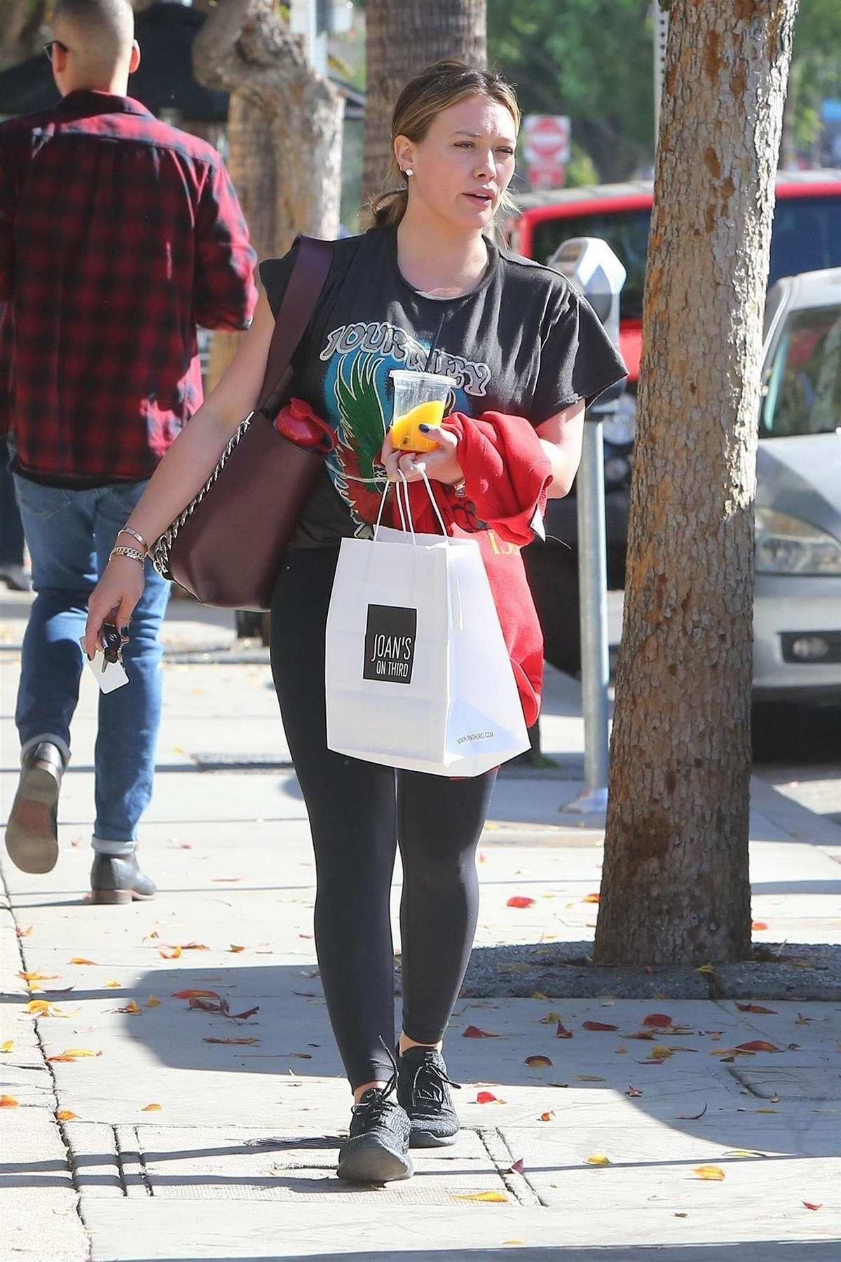 Hilary Duff stops by Joan's On Third to get lunch to-go in Studio City, Los Angeles