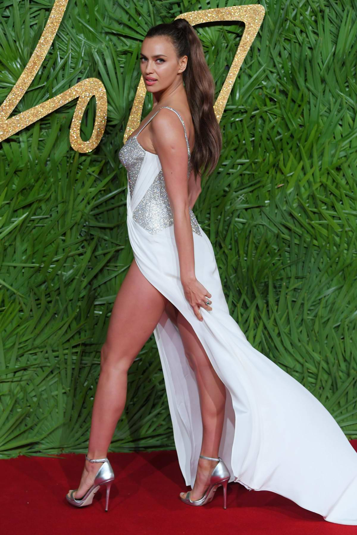 Irina Shayk attends The British Fashion Awards 2017 in partnership with Swarovski held at the Royal Albert Hall in London