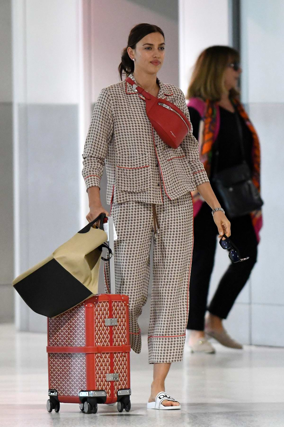 Irina Shayk spotted during a travel themed photoshoot at the Miami international airport, Miami, Florida