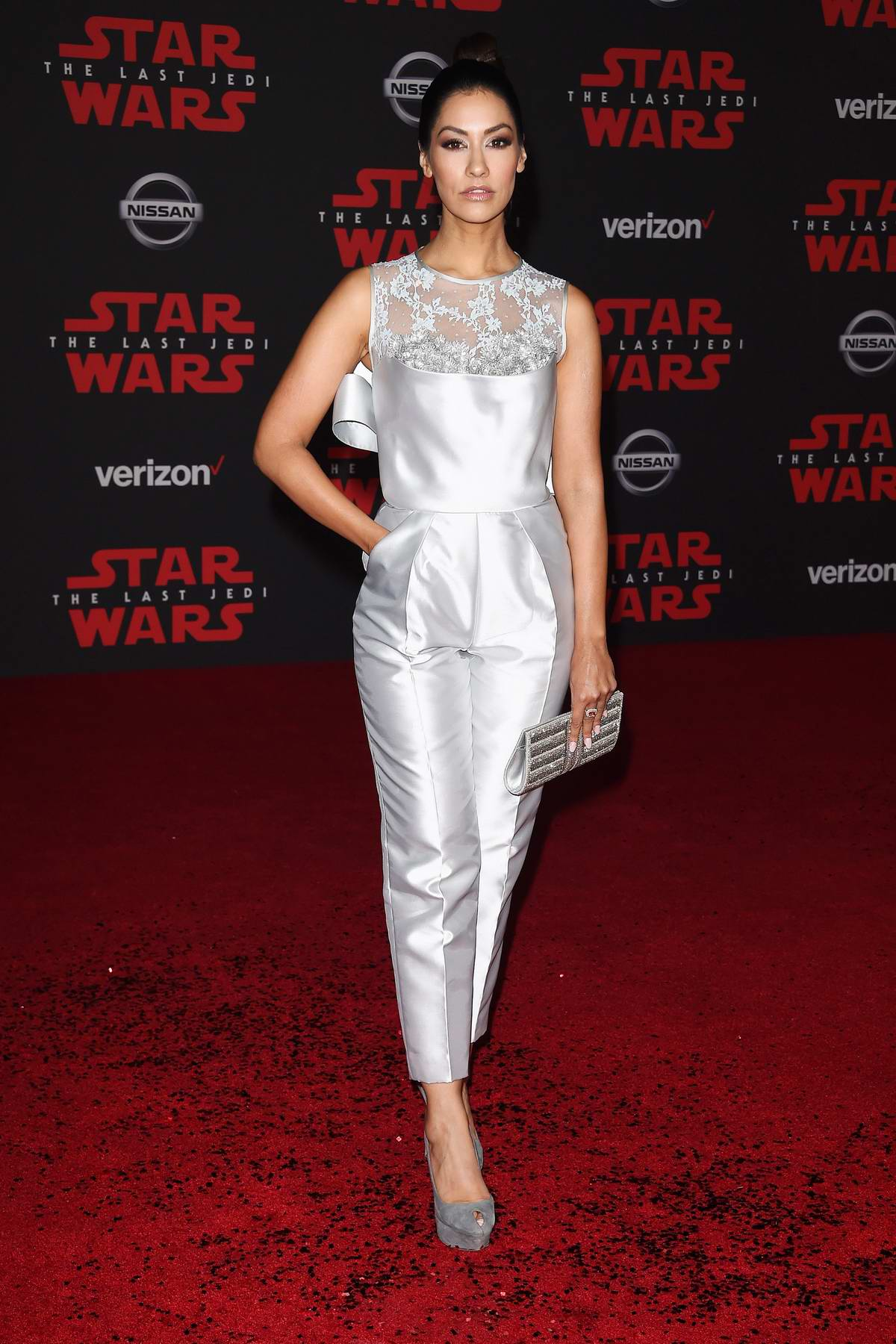 Janina Gavankar at the World premiere for 'Star Wars: The Last Jedi' at the Shrine Auditorium in Los Angeles